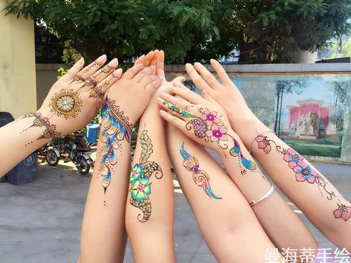 印度曼海蒂手绘纹身风格有哪些?